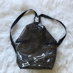 Grunge PVC mini backpack
